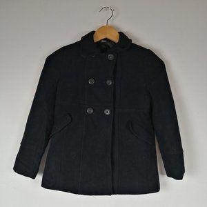 Unisex Black Caban Coat for Kids (9-10 years)